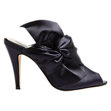 Buy Karen Millen Oversized Bow Stiletto Heeled Mules, Navy Online at johnlewis.com