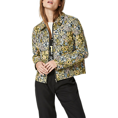 Product photo of Selected femme malena floral print jacket yellow black