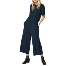 Buy Selected Femme Fari Cropped Jumpsuit, Navy Online at johnlewis.com