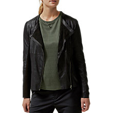 Buy Selected Femme Danja Leather Blazer, Black Online at johnlewis.com