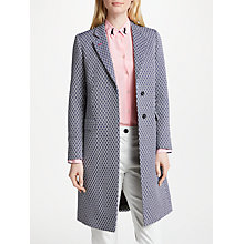 Buy PS Paul Smith Jacquard Cotton Blend Epsom Coat, Navy Online at johnlewis.com