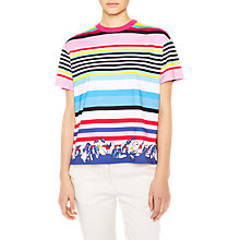 Buy PS Paul Smith Multi Stripe Floral Print T-Shirt, Multi Online at johnlewis.com
