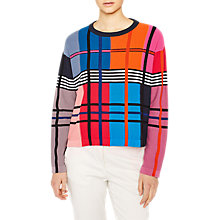 Buy PS Paul Smith Colour Block Check Merino Wool Blend Jumper, Multi Online at johnlewis.com