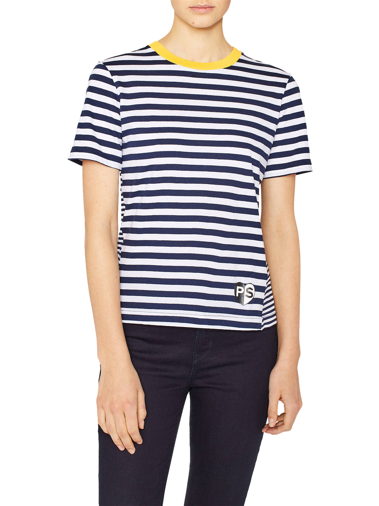 9a840dbc31 PS Paul Smith Stripe T-Shirt, Navy/White at John Lewis & Partners