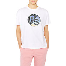 Buy PS Paul Smith Sunset Logo T-Shirt, White Online at johnlewis.com