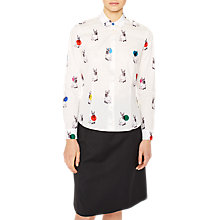 Buy PS Paul Smith Rabbit Print Shirt, White Online at johnlewis.com