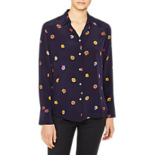 Buy PS Paul Smith	Floral Print Silk Shirt, Navy/Multi Online at johnlewis.com