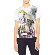 Buy PS Paul Smith Tropical Tree Print T-Shirt, White Online at johnlewis.com