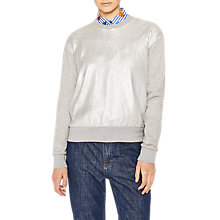 Buy PS Paul Smith Metallic Front Sweatshirt, Grey Marl Online at johnlewis.com