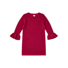 Buy Jigsaw Girls' Belle Sleeve Knit Dress, Bright Rose Online at johnlewis.com