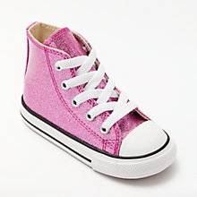 Buy Converse Chuck Taylor All Star Hi-Top Trainers, Pink Glitter Online at johnlewis.com