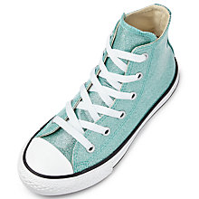 Buy Converse Children's Chuck Taylor All Star Hi-Top Trainers, Green Glitter Online at johnlewis.com