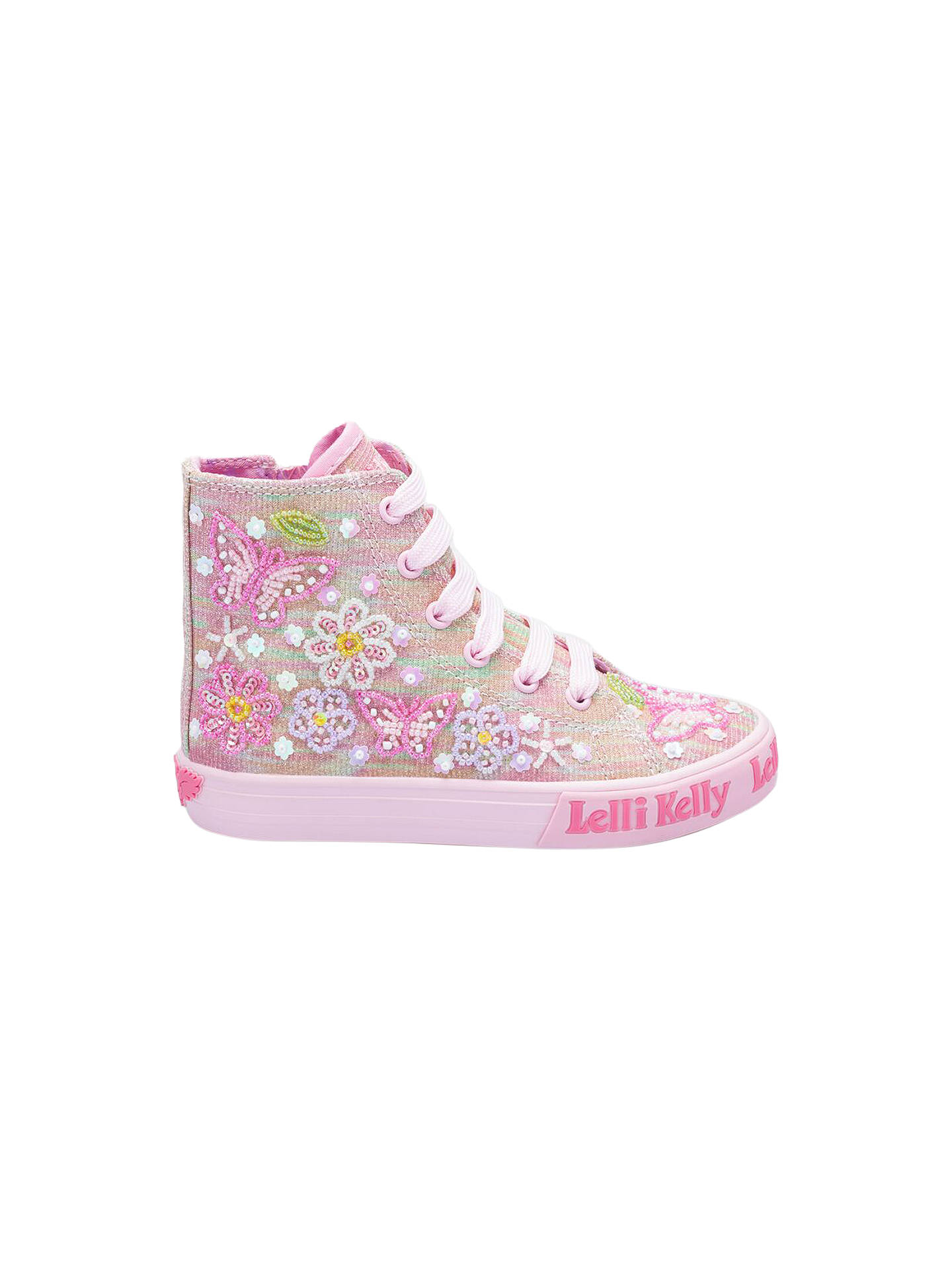 4a18c594c82c0 Buy Lelli Kelly Children's Shining Butterfly High Top Trainers, Pink, 26  Online at johnlewis ...