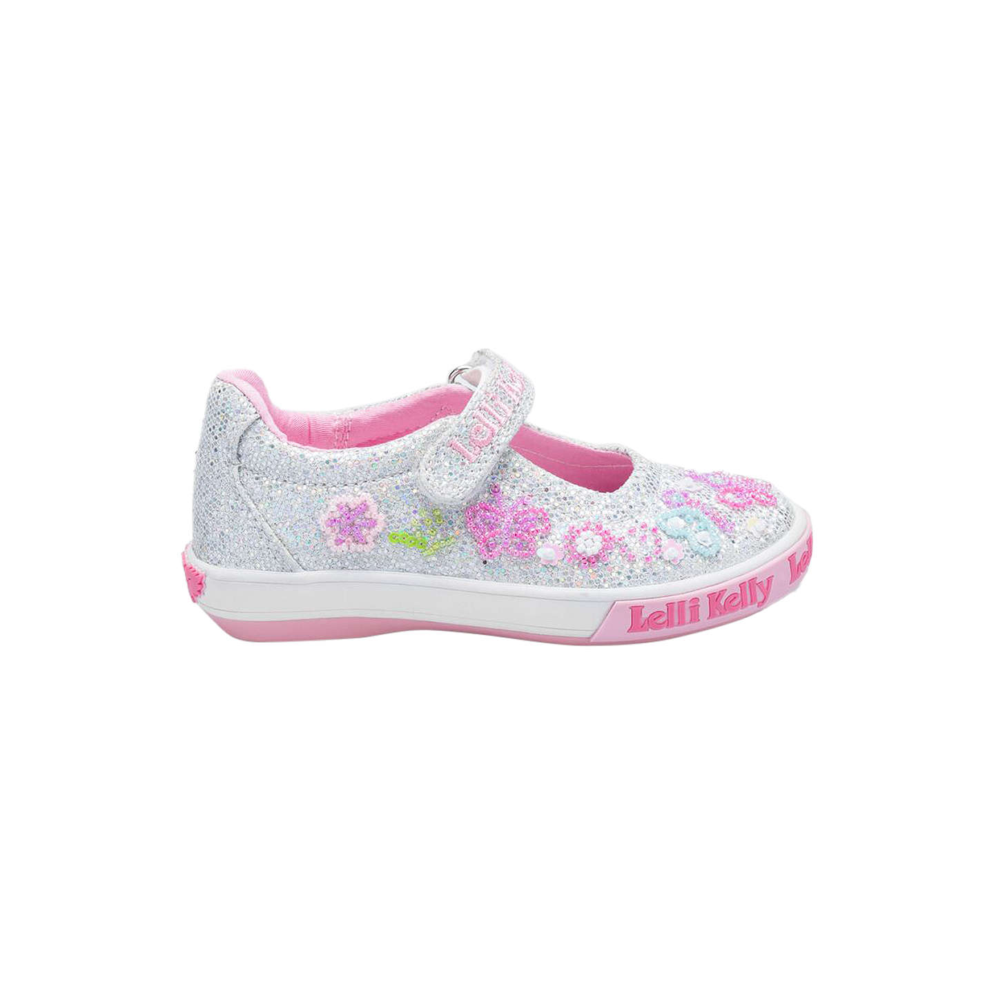 BuyLelli Kelly Children's Glitter Butterfly Dolly Shoes, Silver, 24 Online  at johnlewis. ...
