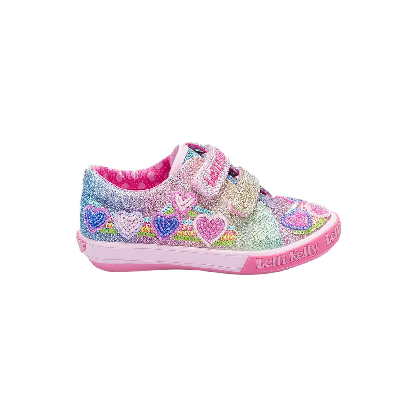 BuyLelli Kelly Children's Rainbow Hearts Shoes, Multi, 24 Online at  johnlewis. ...
