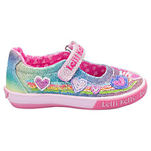 Buy Lelli Kelly Children's Rainbow Hearts Dolly Shoes, Multi Online at johnlewis.com