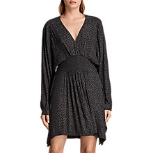 Buy AllSaints Nichola Leopard Print Dress, Black Online at johnlewis.com