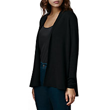 Buy East Peplum Hem Cardigan, Black Online at johnlewis.com