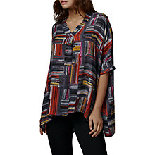 Buy East Marcelle Check Oversized Blouse, Charcoal Online at johnlewis.com