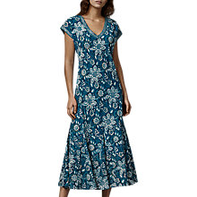 Buy East Anokhi Garden Dress, Indigo Online at johnlewis.com