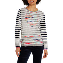 Buy White Stuff Craft Heart Jumper, Grey/Multi Online at johnlewis.com