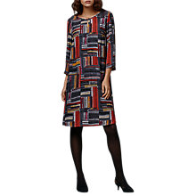 Buy East Marcelle Check Shift Dress, Charcoal Online at johnlewis.com