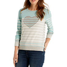 Buy White Stuff Novelty Heart Jumper, Mint/Multi Online at johnlewis.com