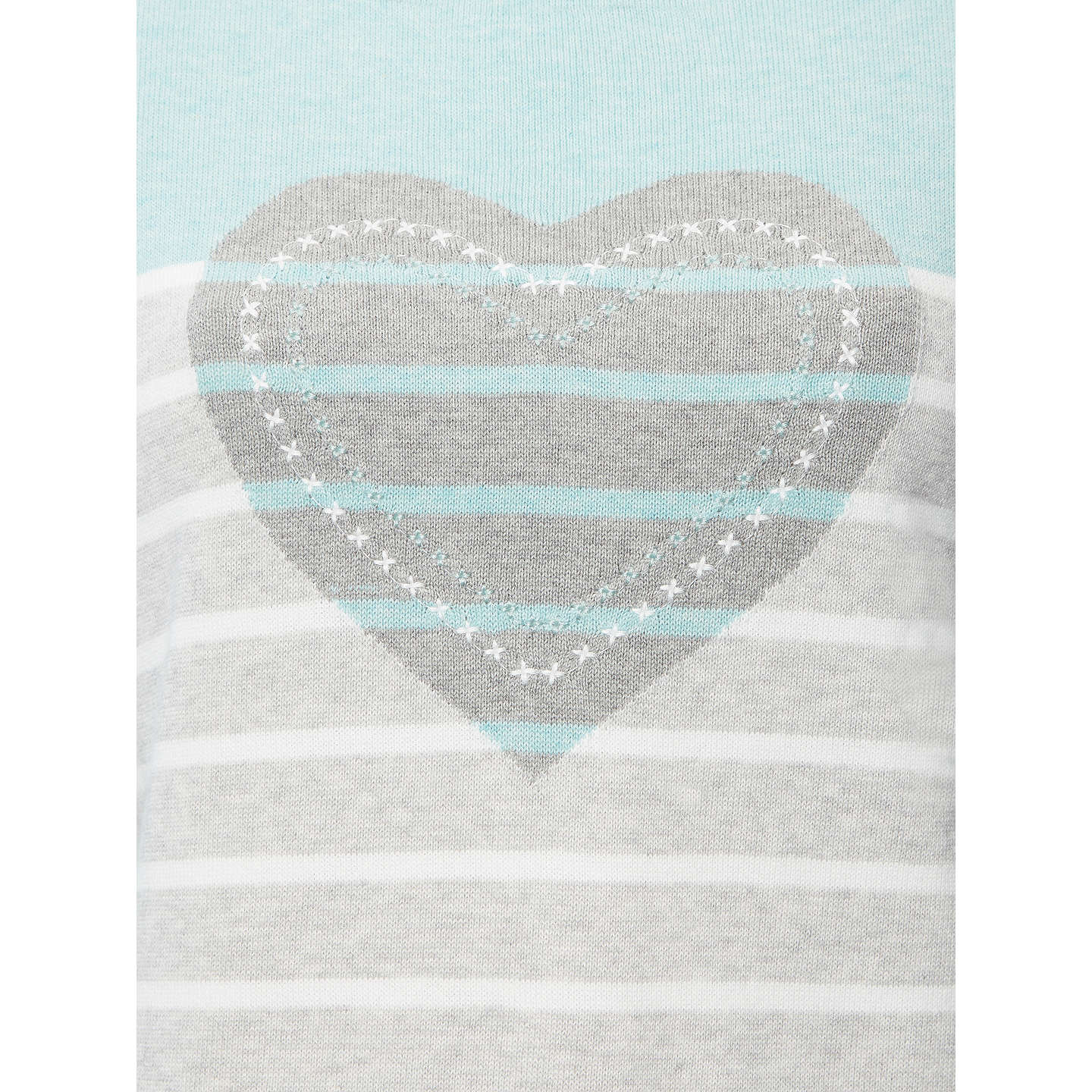 BuyWhite Stuff Novelty Heart Jumper, Mint/Multi, 6 Online at johnlewis.com