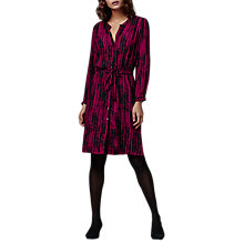 Buy East Graphic Stripe Tunic Dress, Magenta Online at johnlewis.com