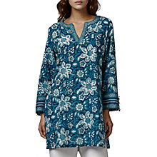 Buy East Anokhi Bead Kurta, Indigo Online at johnlewis.com