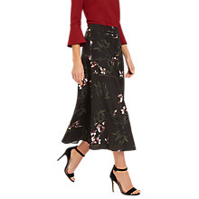 Buy Jaeger Orchid Skirt, Black/Multi Online at johnlewis.com