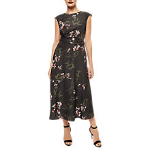 Buy Jaeger Orchid Dress, Black/Multi Online at johnlewis.com