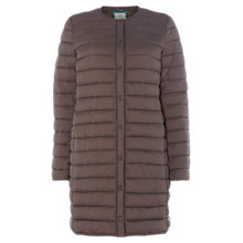 Buy White Stuff Blithfield Quilt Longline Coat, Brown Online at johnlewis.com
