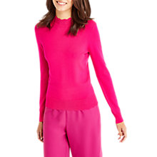 Buy Oasis Mini Scallop Turtle Neck Jumper, Bright Pink Online at johnlewis.com