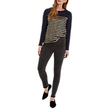 Buy White Stuff Hazel Let Down Hem Jeggings, Charcoal Online at johnlewis.com