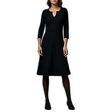 Buy East Merino Pointelle Dress, Black Online at johnlewis.com
