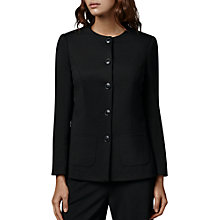 Buy East Ponte Button Jacket, Black Online at johnlewis.com