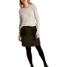 Buy White Stuff Milly Tweed Patch Pocket Skirt, Forest Green Online at johnlewis.com