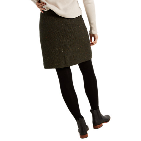 buy white stuff milly tweed patch pocket skirt forest green online at