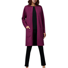 Buy East Milano Coatigan, Magenta Online at johnlewis.com