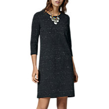 Buy East Speckled Jersey Dress, Charcoal Online at johnlewis.com