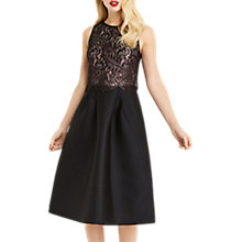 Buy Oasis NTU 2 in 1 Lace Midi Dress, Black Online at johnlewis.com