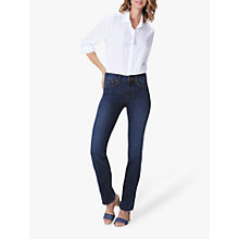 Buy NYDJ Marilyn Straight Leg Regular Jeans, Cooper Blue Online at johnlewis.com