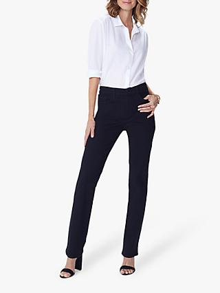NYDJ Marilyn Straight Leg Jeans, Black