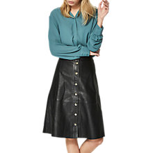 Buy Selected Femme Sonja Leather Skirt, Black Online at johnlewis.com