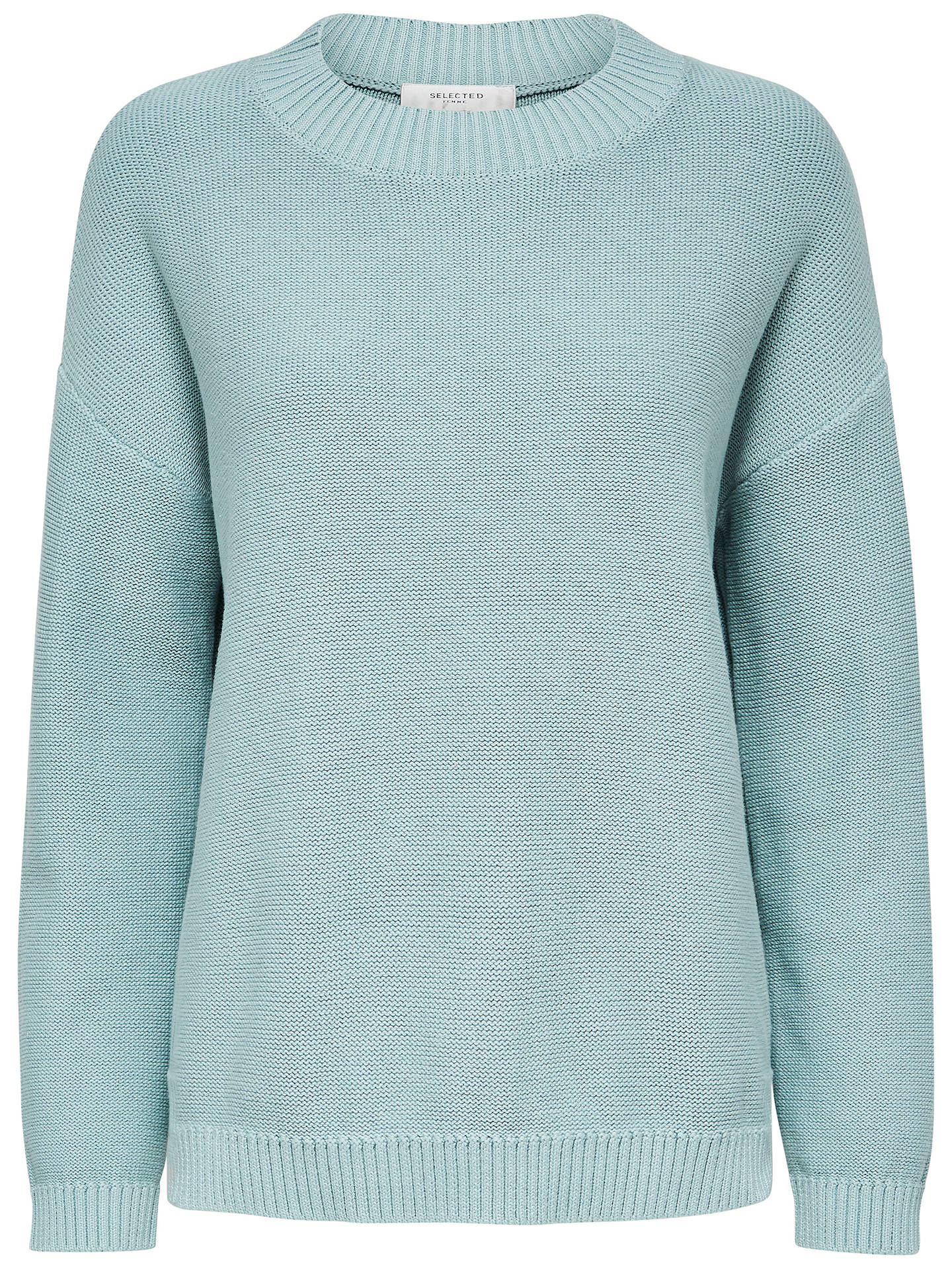 Buy Selected Femme Margarite Jumper, Grey Mist, M Online at johnlewis.com