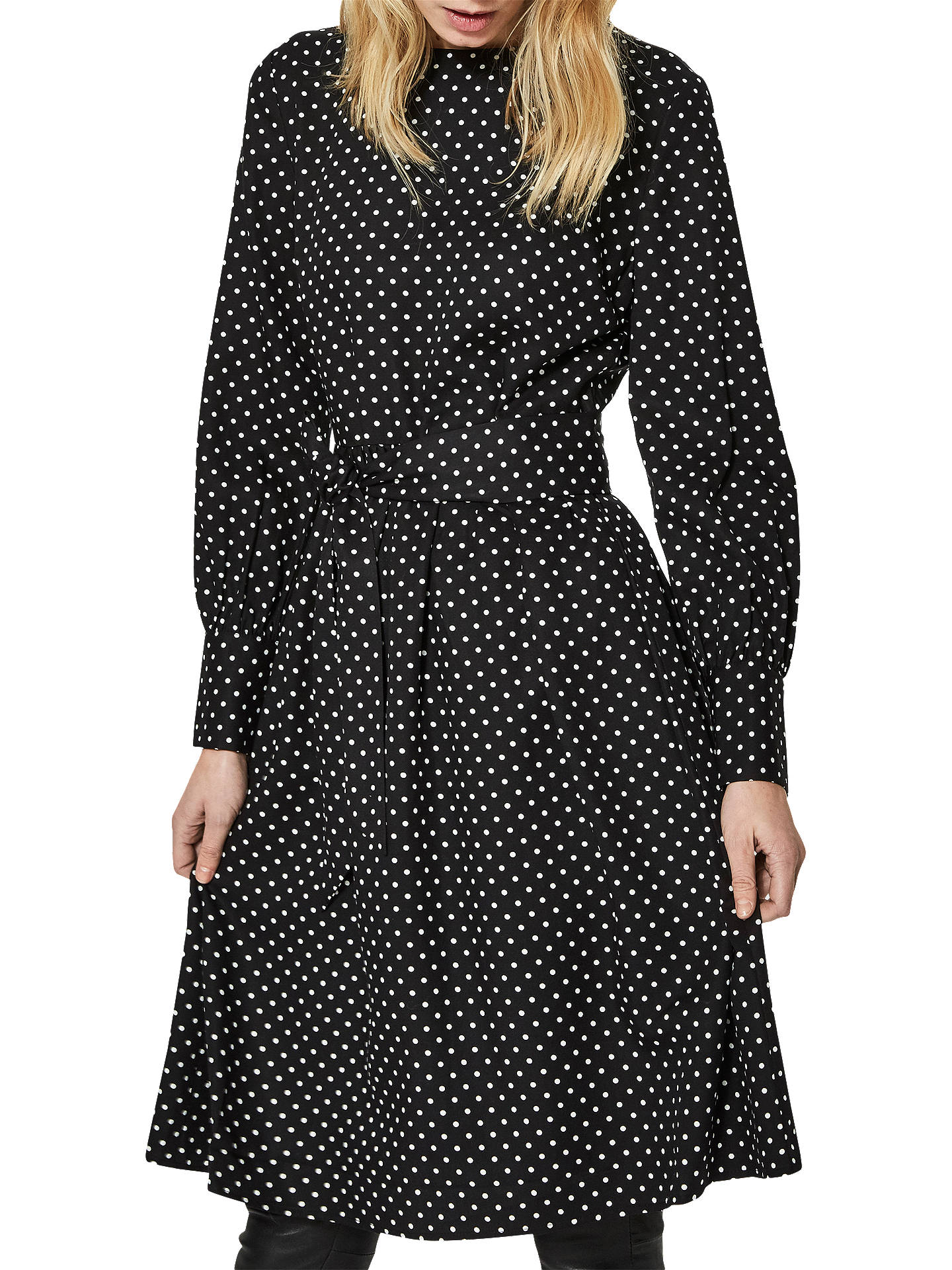Buy Selected Femme Millado Dress, Black, 14 Online at johnlewis.com