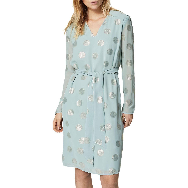 Selected Femme Valora Foil Spot Dress, Light Green at John Lewis