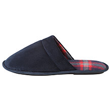 Buy Totes Check Lined Cord Mule Slippers, Navy Online at johnlewis.com
