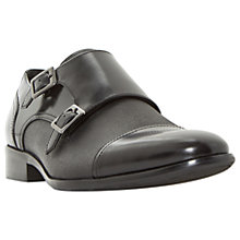 Buy Dune Prodigy Leather Shoes, Black Online at johnlewis.com